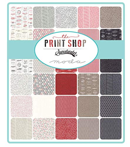 Sweetwater The Print Shop Jelly Roll 40 2.5-inch Strips Moda Fabrics 5470JR