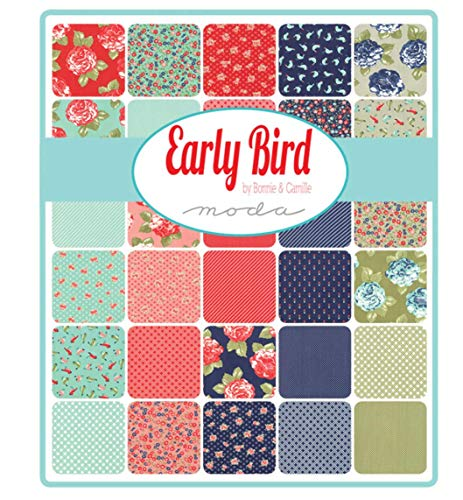 "Early Bird Layer Cake, 42-10"" Precut Fabric Quilt Squares by Bonnie & Camille"