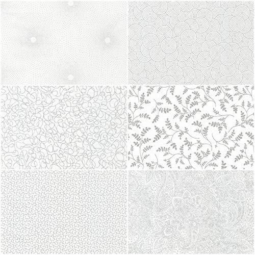 Whisper Metallics Silver Ten Square 42 10-inch Squares Layer Cake Robert Kaufman Fabrics TEN-758-42
