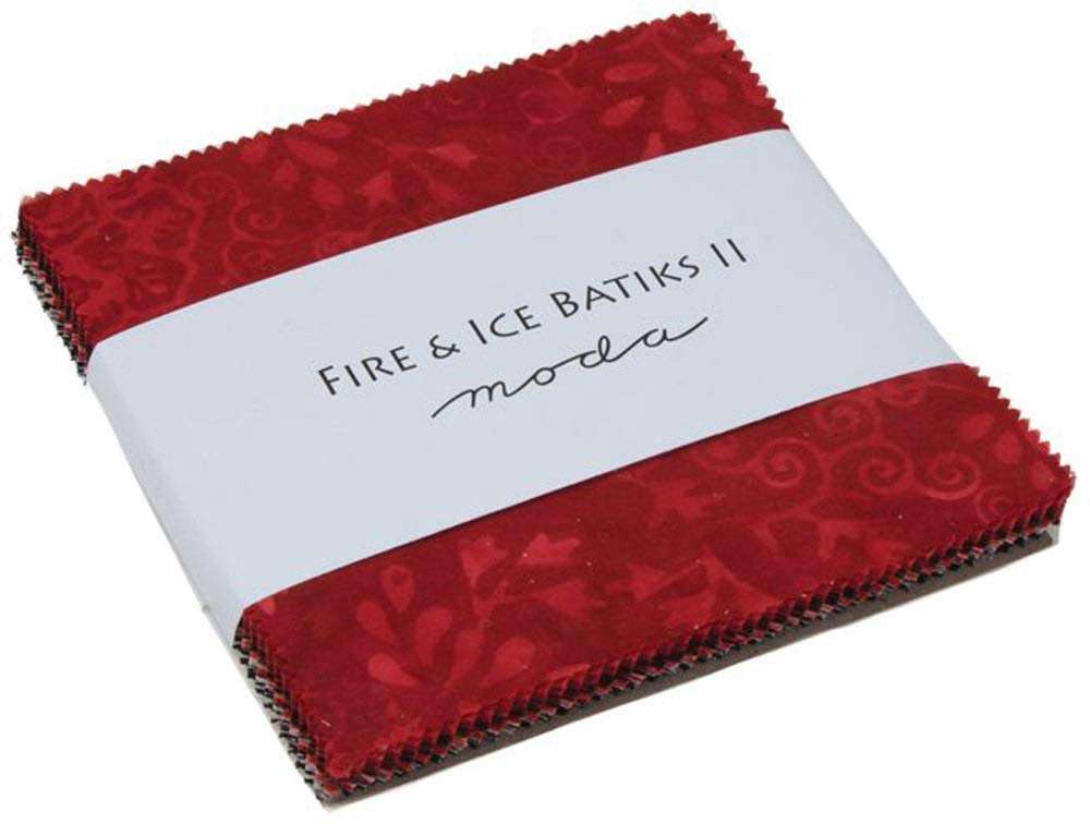 Fire & Ice II Batiks Charm Pack; 42-5 inch Squares - MODA