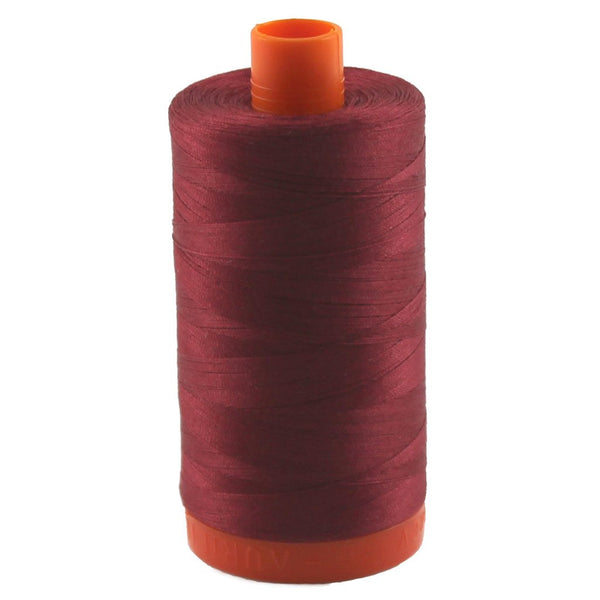 Aurifil Thread 1103 BURGUNDY Cotton Mako 50wt Large Spool 1300m
