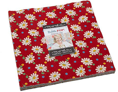 Bubble Pop Layer Cake, 42-10 inch Precut Fabric Quilt Squares by American Jane