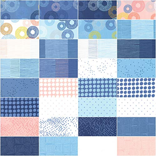 Zen Chic Breeze Jelly Roll 40 2.5-inch Strips Moda Fabrics 1690JR