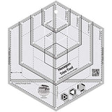 Creative Grids Hexagon Trim Tool Quilting Ruler Template CGRJAW4
