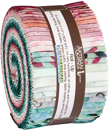 Lunn Studios Artisan Batiks Spring Forward Roll Up 40 2.5-inch Strips Robert Kaufman RU-868-40