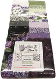 Lilacs in Bloom Strip-Pies by Jackie Robinson; 40 2.5-inch Strips Benartex