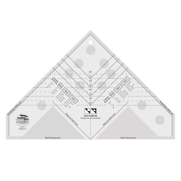 Creative Grids Quilting Template Ruler Cat's Cradle XL CGRDH1XL