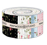 Wild Rose Flannel Strips by Marti Michell; 40 2.5-inch Strips - Maywood Studio