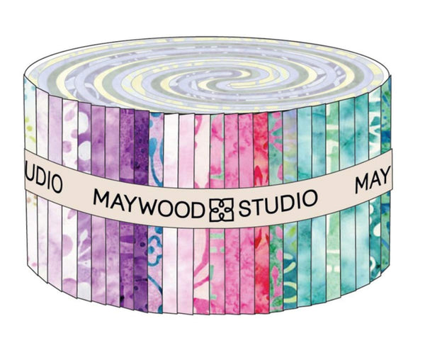 Bejeweled Batiks; 40 2.5-inch Strips - Maywood Studio