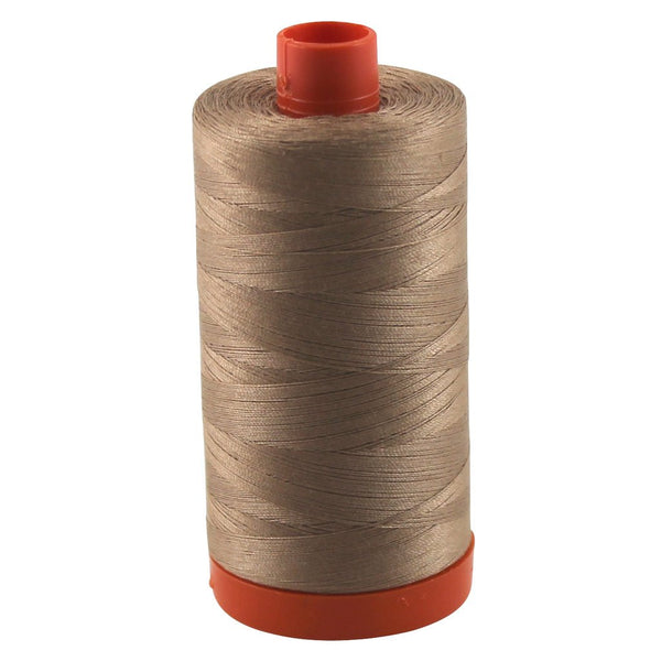 Aurifil Thread 2340 CAFE AU LAIT Cotton Mako 50wt Large Spool 1300m