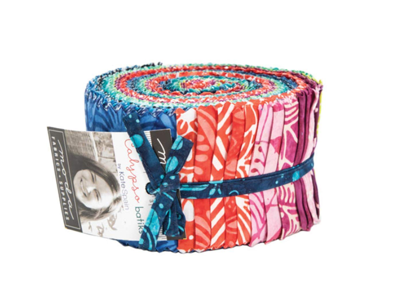 Calypso Batiks Jelly Roll by Kate Spain; 40 2.5-inch Strips - Moda Fabrics