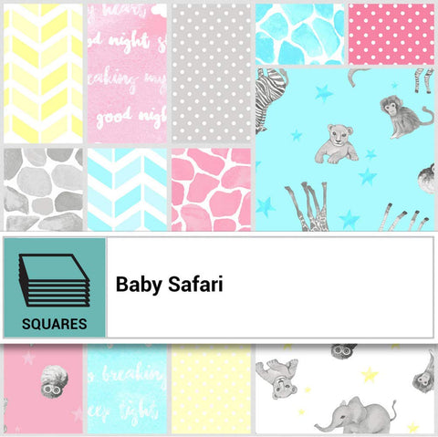 Baby Safari Layer Cake by Ellen Crimi-Trent, 42-10 inch Squares - Clothworks