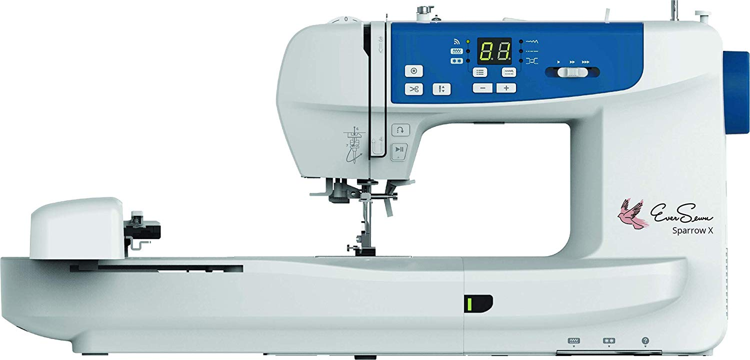 EverSewn Sparrow X –Next Generation Sewing and Embroidery Machine, White