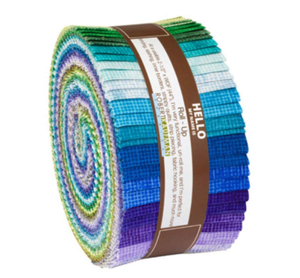Chalk and Charcoal - Cool Roll Up by Jennifer Sampou; 40 2.5-inch Strips - Robert Kaufman Fabrics