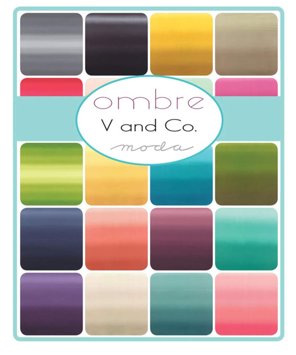 for Moda Fabrics Ombre New Colors 2019 12 Fat Quarter Bundle by V and Co
