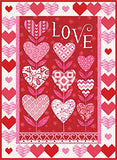 Listen With Your Heart Quilt Kit w/ Love Grows Collection by Deb Strain for Moda