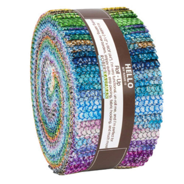 Atlantia Roll Up 40 2.5-inch Strips Jelly Roll by Studio RK Robert Kaufman