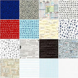 Out of Print 16 Fat Quarters Robert Kaufman Fabrics FQ-1514-16