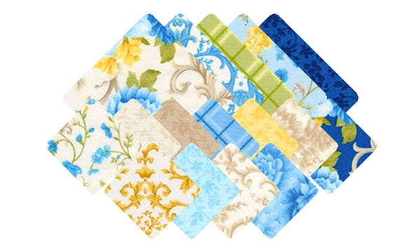 Colorstory: Beckford Terrace - Sky by Hyun Joo Lee; 42 10-inch Squares - Robert Kaufman