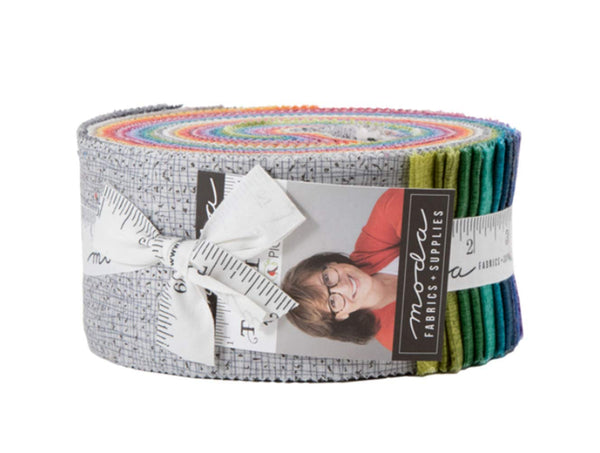 Thatched Jelly Roll  by Robin Pickens; 40 2.5-inch Strips for - Moda Fabrics
