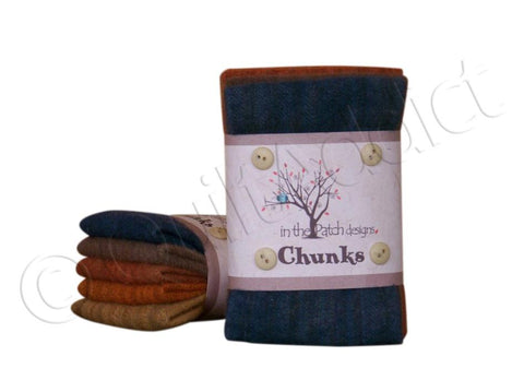 Autumn Wool Chunks, 5pcs.