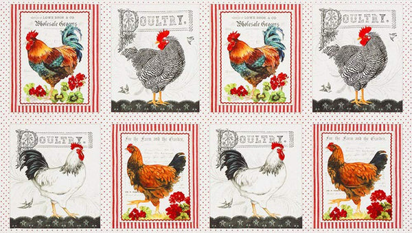 Down on The Farm by Gwendolyn Babbitt; 7 Fat Quarters & 1 Panel - Robert Kaufman Fabrics