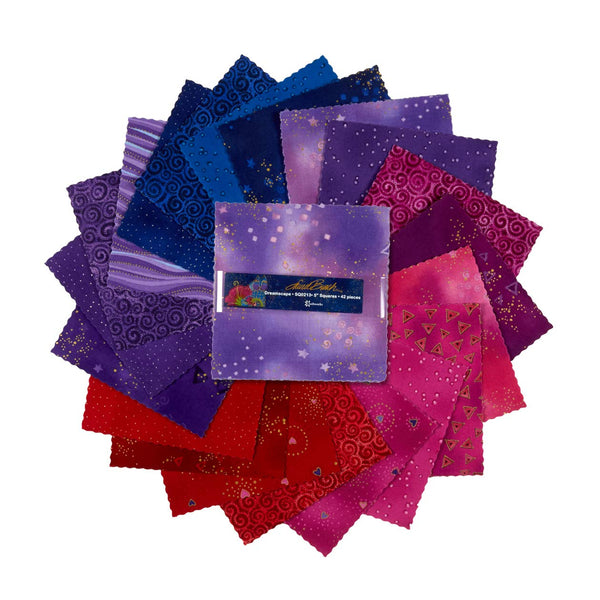Basics: Dreamscape by Laurel Burch; 42 5'' Squares - Metallic - Clothworks