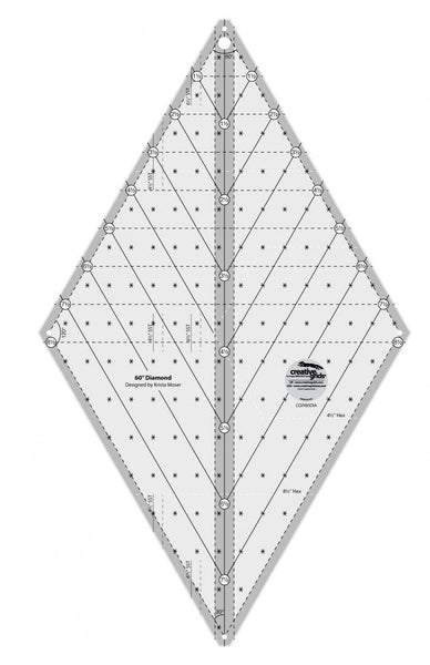 Creative Grids 60-Degree Diamond Quilting Ruler Designed by Krista Moser