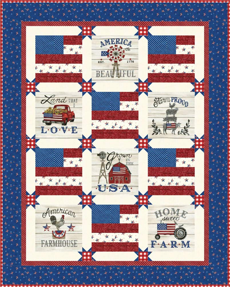 Land That I Love Stars & Stripes Quilt Kit - Deb Strain - Moda Fabrics