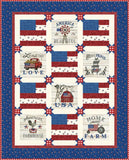 Land That I Love Stars & Stripes Quilt Kit by Deb Strain for Moda Fabrics KIT19880