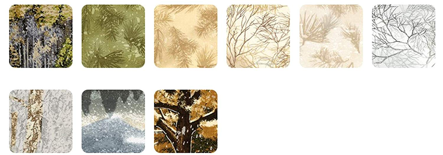 Nature's Window: Autumn Colorstory; 6 Fat Quarters & 3 Panels - Robert Kaufman
