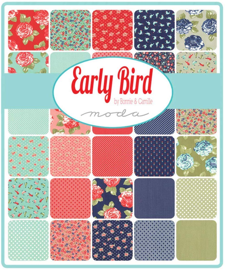 "Early Bird Layer Cake by Bonnie & Camille; 42-10"" Squares - Moda"