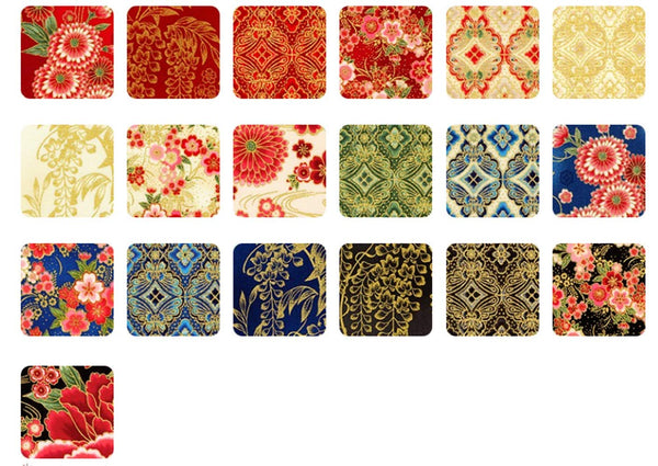 Imperial Collection: Spring Colorstory by Hyun Joo Lee; 20 Fat Quarter - Robert Kaufman