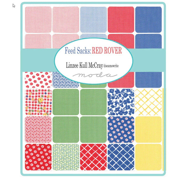 Feed Sack-Red Rover Quilt Kit by Linzee McCray for Moda Fabrics KIT23310