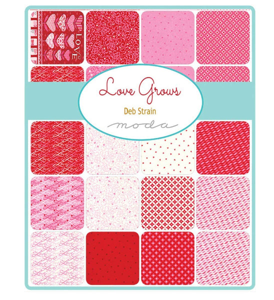 "Moda Love Grows Jelly Roll by Deb Strain; 40 2.5"" Strips - MODA"