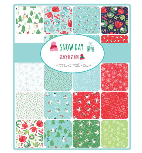 "Snow Day 36/""x60/"" Seasonal Christmas Panel by Stacy Iest Hsu"