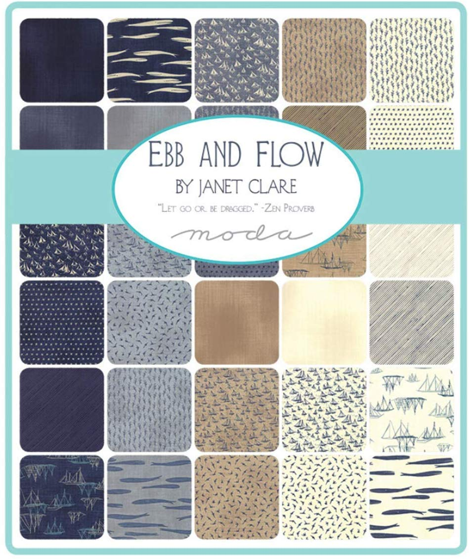 "Ebb and Flow Layer Cake by Janet Clare, 42 10"" Squares - Moda"