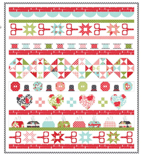 Little Snippets Quilt Day Quilt Kit by Bonnie & Camille for Moda Fabrics