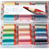 Aurifil Thread Set - Pastel Collection 50wt Cotton 12 Large (1422 yard) Spools