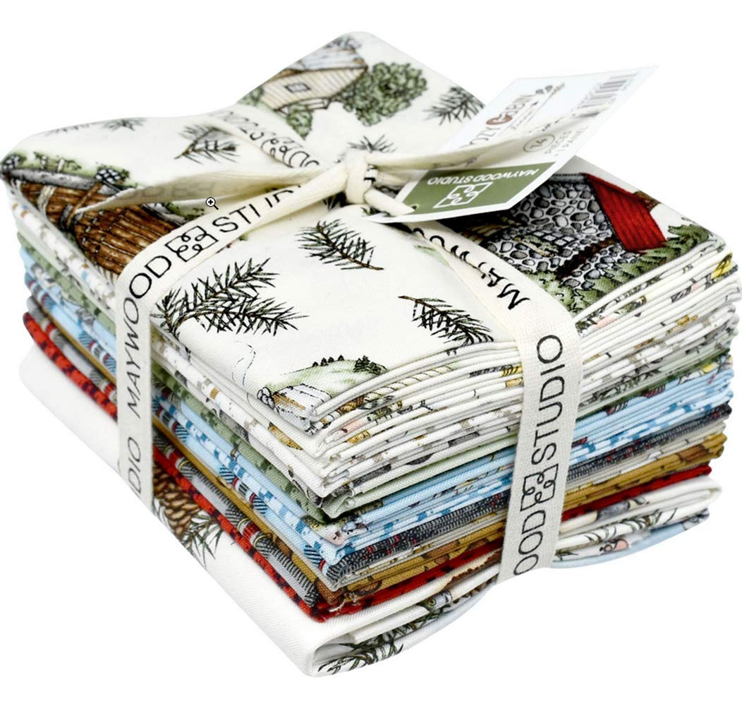 Cozy Cabin by Kris Lammers; 14 Fat Quarters & 1 Panel for Maywood Studio