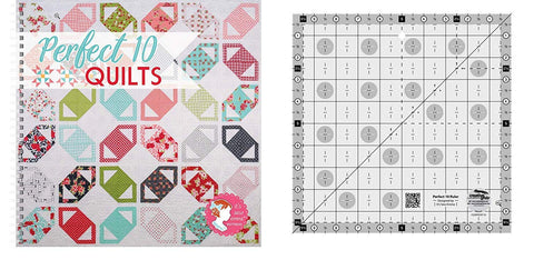 Perfect 10 Quilts Bundle- Creative Grids Perfect 10 Ruler and Perfect 10 Quilts Pattern Book