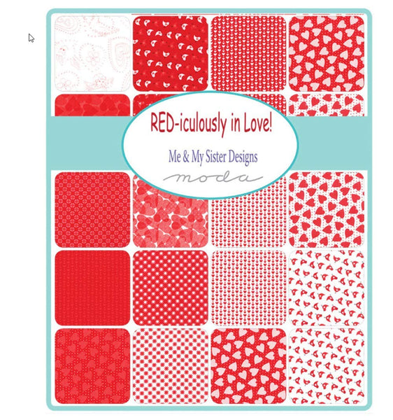 Moda REDiculously in Love Fat Quarter Bundle by Me & My Sister Designs 22360AB