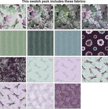 Essence of Pearl-Purple by Kanvas Studio; 42 10-inch Squares - Benartex