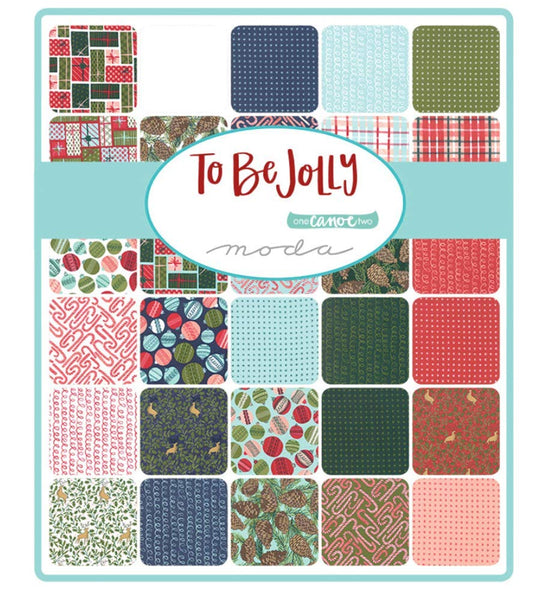 To Be Jolly by One Canoe Two; 33 Fat Quarters - Moda Fabrics