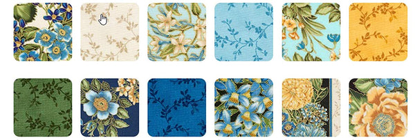 Avery Hill-Blue by Studio RK;  42 10-inch Squares Robert Kaufman Fabrics