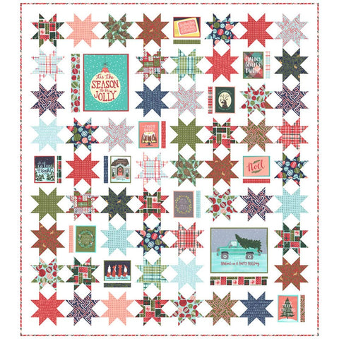 To Be Jolly Quilt Kit by One Canoe Two - Moda Fabrics