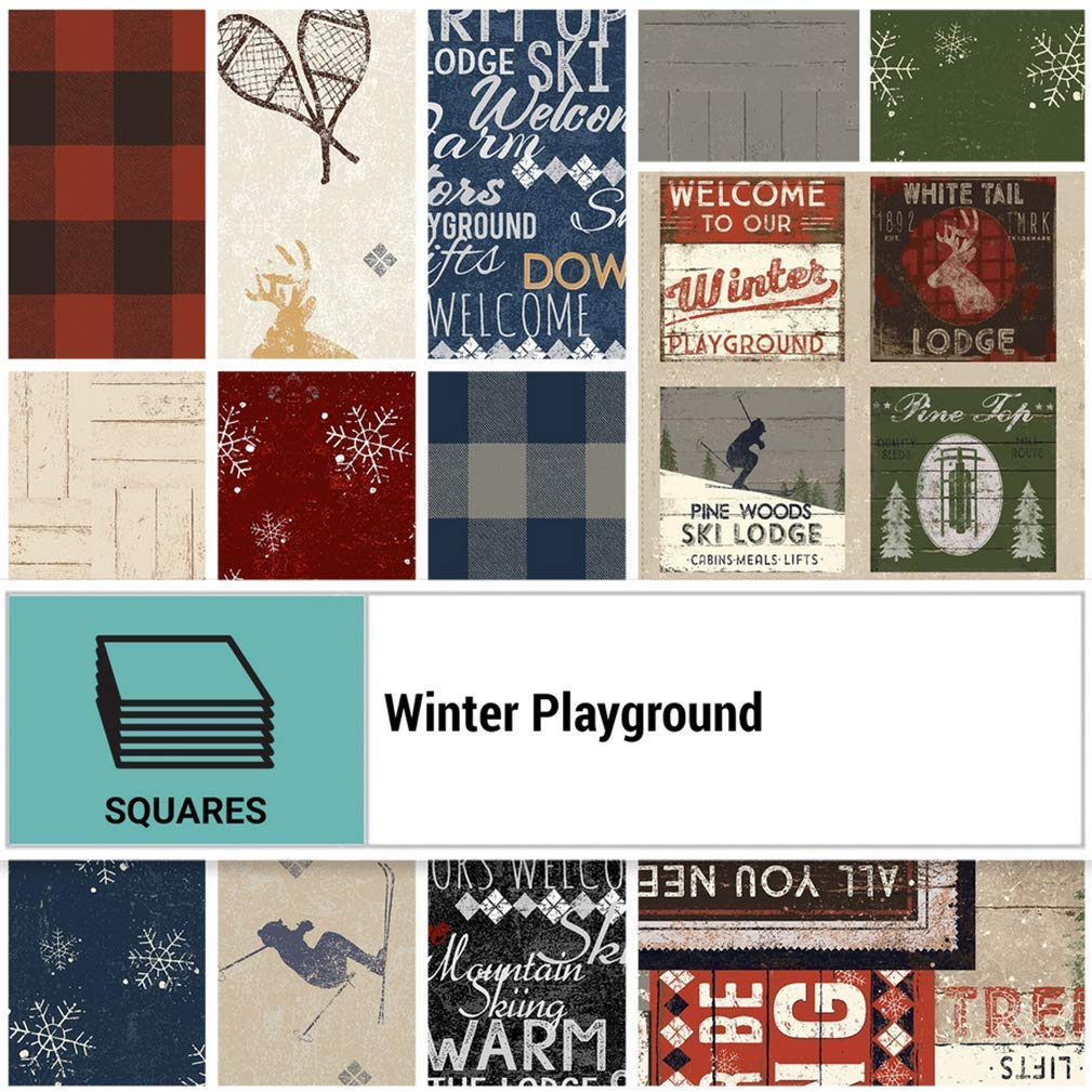 Winter Playground by Dan DiPaolo; 42 10-inch Squares - Clothworks