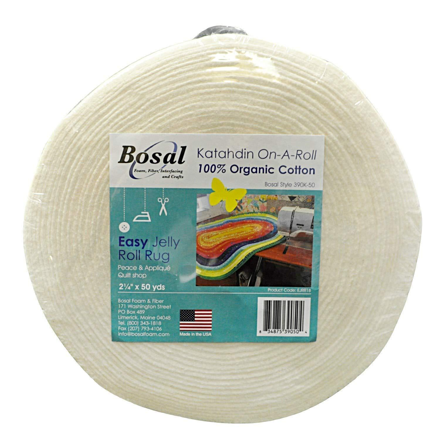 Bosal Katahdin On-A-Roll Organic Cotton Batting 2-1/4 inches by 50 Yards