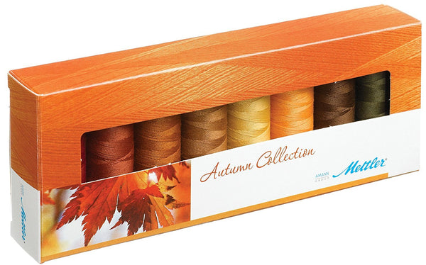 Mettler Thread Silk Finish 100% Mercerized Cotton Sewing Set; 8 Spools AUTUMN Color Collection