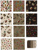 Home Sweet Home Flannel by Bonnie Sullivan; 12 Fat Quarter Bundle Plus Panel - Maywood Studio